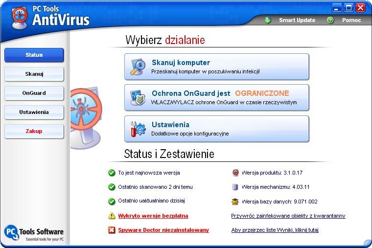 09.04.2009. Антивирусы. Просмотров 155. PC Tools AntiVirus 6.0.0.19
